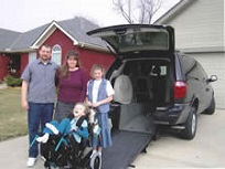 Family with accessible van
